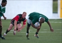 Curacao against rugbygame Manchester Ship from England