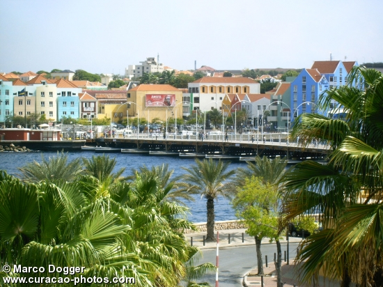 Queen Emma bridge from Plaza Hotel Curaçao
