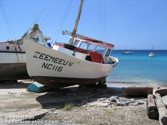 Fishing boat at Boka St. Michiel Curaçao