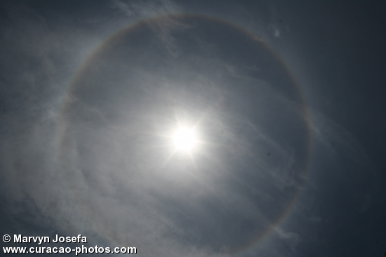 Look outside now (circle around the sun)