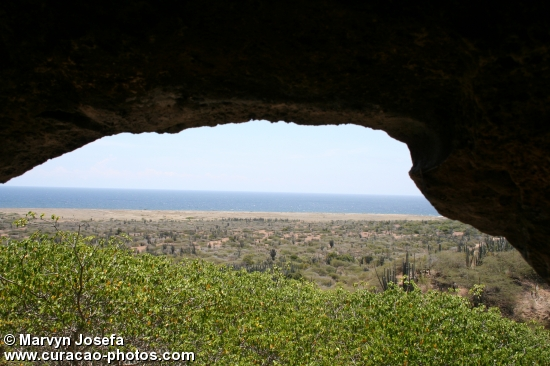 View from a cave at Koraal Tabak