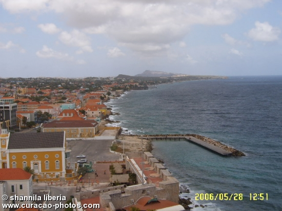 A part of the southcoast of Curaçao