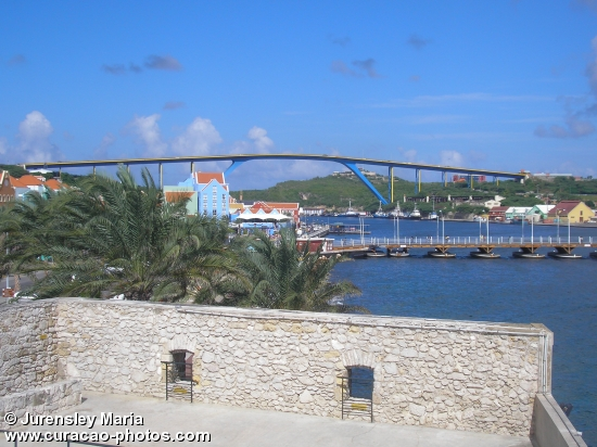 Queen Juliana bridge and Emma bridge from Riffort Village
