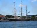 "Clipper ""Stad Amsterdam"" in St. Anna Bay"