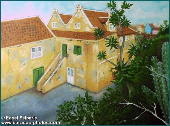 Portrait of Willemstad Curacao.