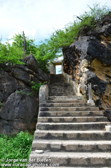 Stairs to Fort Beekenburg